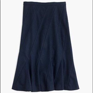 NEW J.CREW Fluted Skirt in stretch linen - Size 6